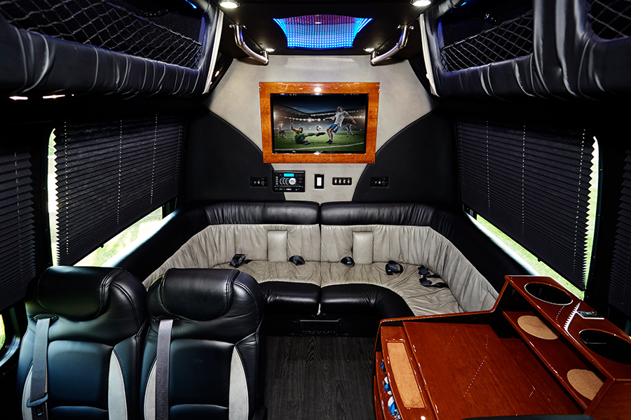 Corporate Limousine Party Bus Interior